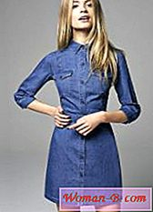 Denim dress-shirt
