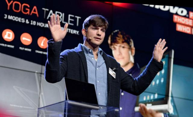 Ashton Kutcher - programer tableta