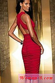 Moda: Red Evening Dress