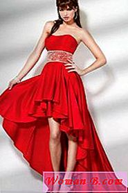 Moda 2017: Red Evening Dress