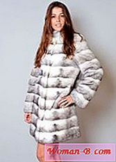Cross mink fur coat