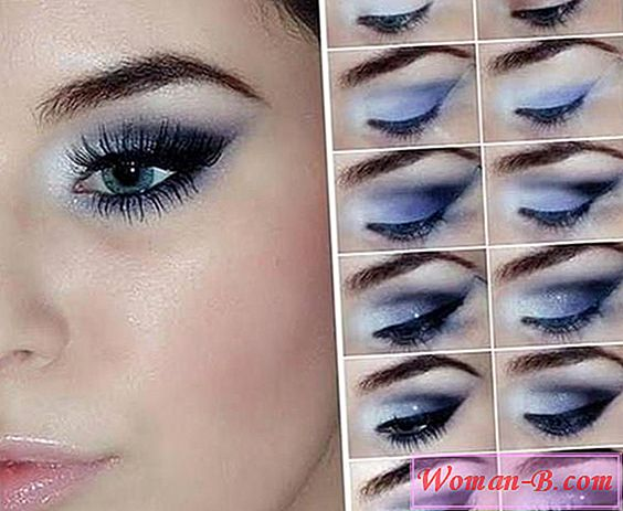 Večernji make-up smokey eyes» za sivih očiju