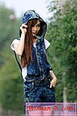 Denim jumpsuit hlače