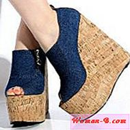 Denim čevlji Wedge