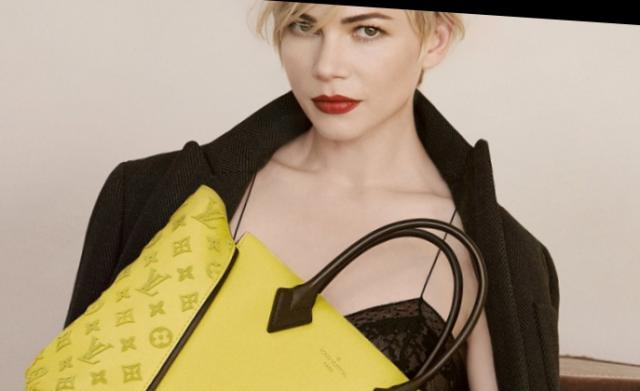 Michelle Williams în publicitatea lui Louis Vuitton